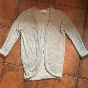 Girls Old Navy Gray Cardigan Sweater